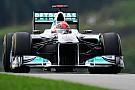 Schumacher ha avuto problemi con l'ala mobile
