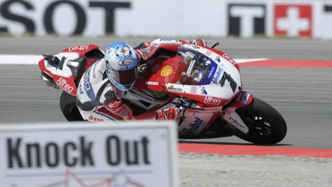 Tripletta Ducati in gara 1 al Miller!