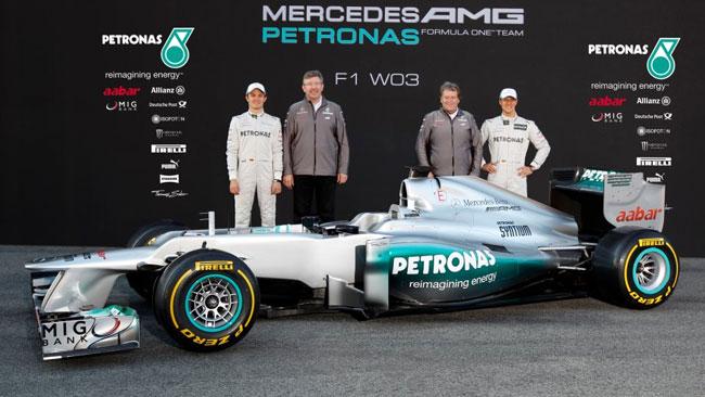 Ecco la prima foto ufficiale della Mercedes W03