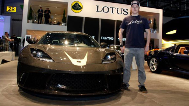 Raikkonen testimonial della Lotus a Ginevra