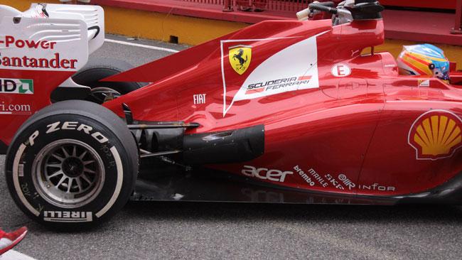 Ecco la Ferrari F2012 modificata nel retrotreno