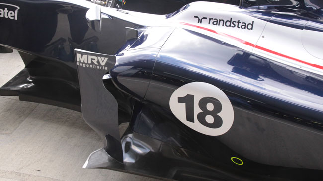 La Williams ha modificato la pancia e le prese dei freni