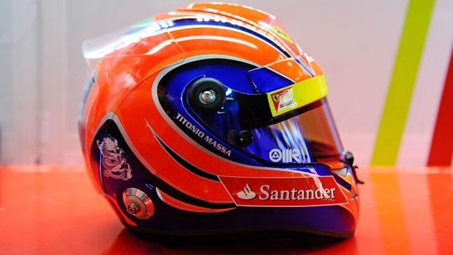 Massa dedica il casco a suo papà ad Interlagos