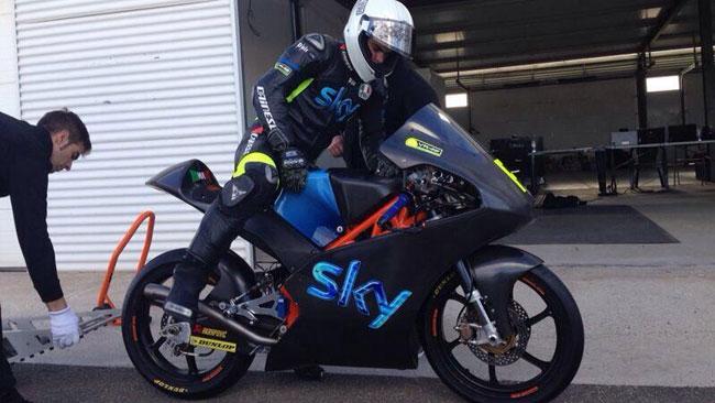 Ecco Romano Fenati sulla KTM del Team Sky VR46