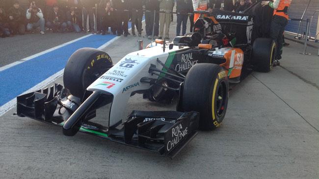 La Force India VJM07 si mostra per intero a Jerez