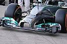 Mercedes: l'ala modificata è arrivata via aerea