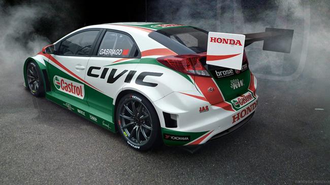 Ecco la livrea della Honda Civic ufficiale