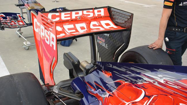 Toro Rosso: con il mono pilone l'ala è fissa