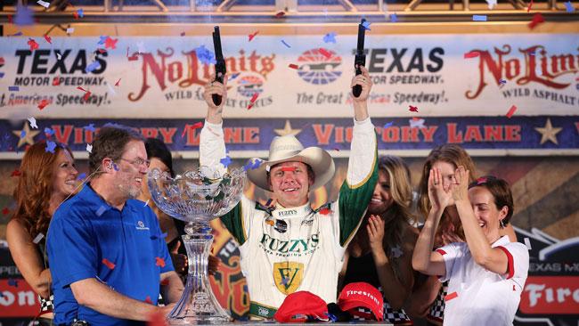 Terza vittoria in carriera per Ed Carpenter in Texas