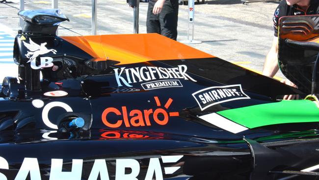 Force India: promosso il nuova cofano motore
