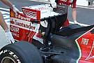 La Ferrari con i tubi di Pitot sull'ala posteriore
