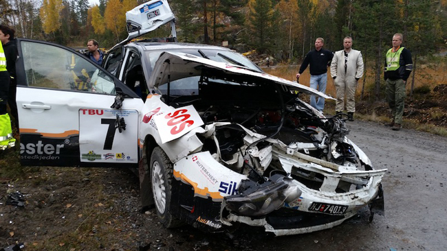 Petter Kristiansen illeso in un brutto incidente