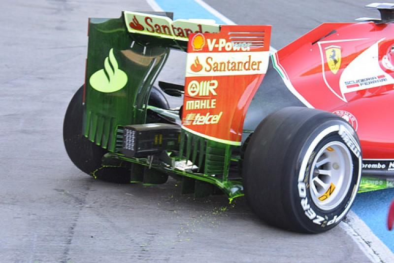 Ferrari: prove aerodinamiche sul retro della SF15-T