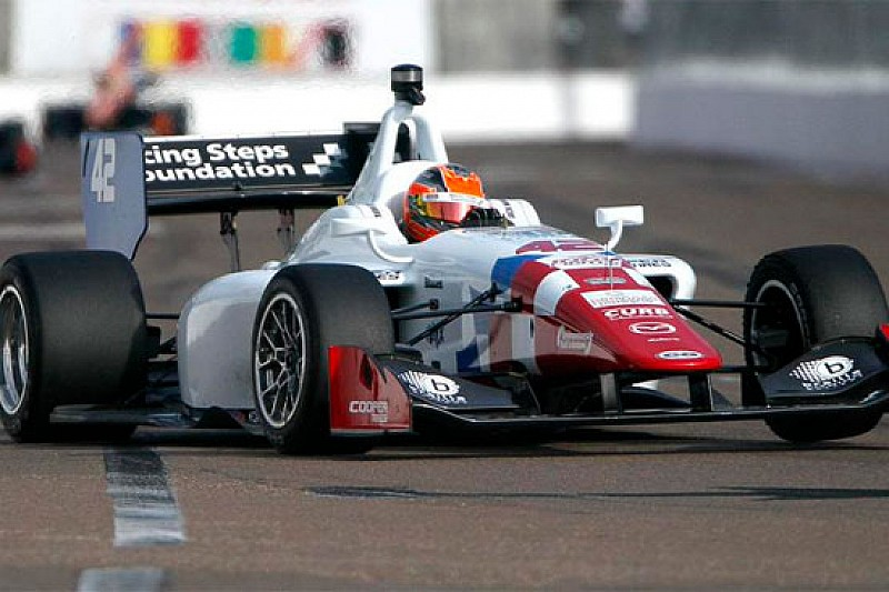 Jack Harvey in pole position a Long Beach