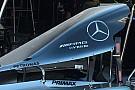 Mercedes: la pinna del cofano motore è più marcata
