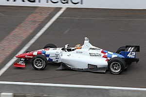 Indy Lights Race report Briton Harvey Heads Schmidt Peterson Sweep of Indy Lights Freedom 100