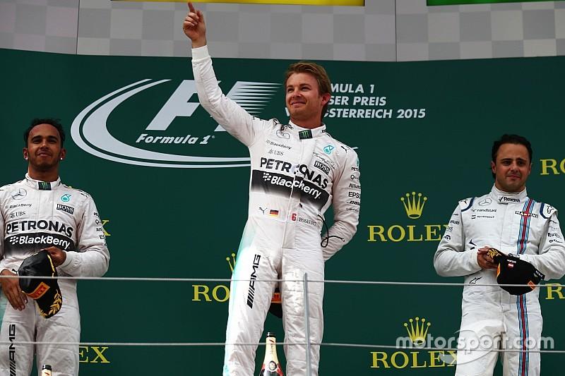 L'avance de Mercedes sur Ferrari supérieure au total de Williams!