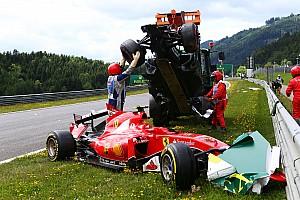 Формула 1 Комментарий Алонсо: Это счастье, что колесо не ударило Кими в шлем