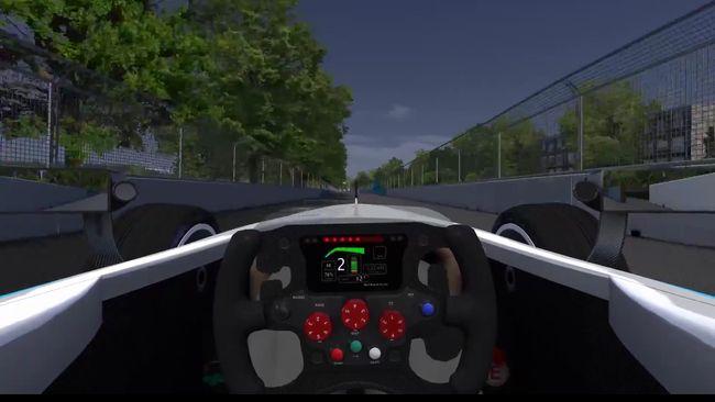Il tracciato di Battersea Park simulato al computer