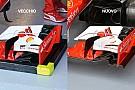 Ferrari: flap modificato sull'ala anteriore della Rossa
