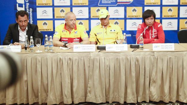 Huff, Coronel, Ma e Ribeiro in conferenza stampa