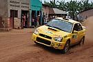 Giancarlo Davite sul podio allo Zimbabwe Rally