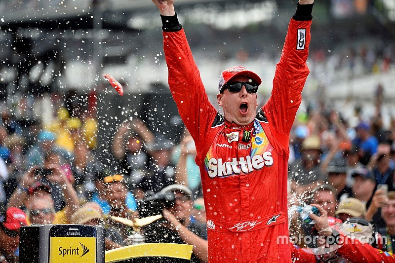 Kyle Busch sweeps the weekend, wins Brickyard 400