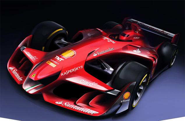 فيراري تنشر صورًا لمفهوم سيارات الفورمولا واحد المُستقبليّة