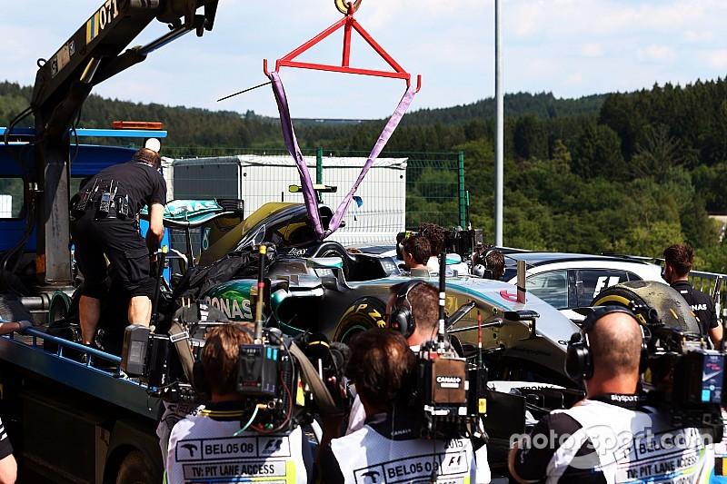 Accident Rosberg - Pirelli privilégie la thèse d'un élément extérieur
