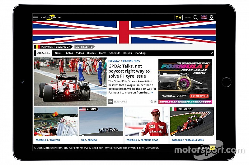 Motorsport.com lance un site Internet dédié au Royaume-Uni