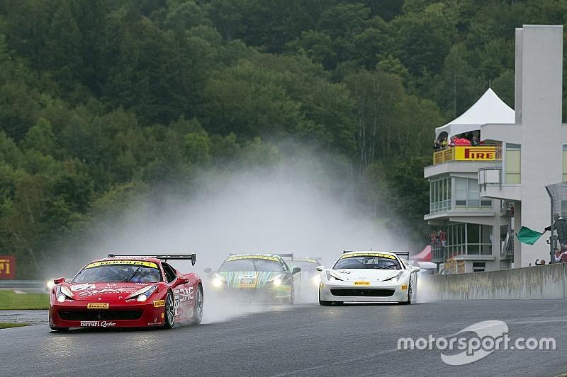 Ferrari Challenge North America – Victories beneath the rain for Anassis, Zoi and Saada