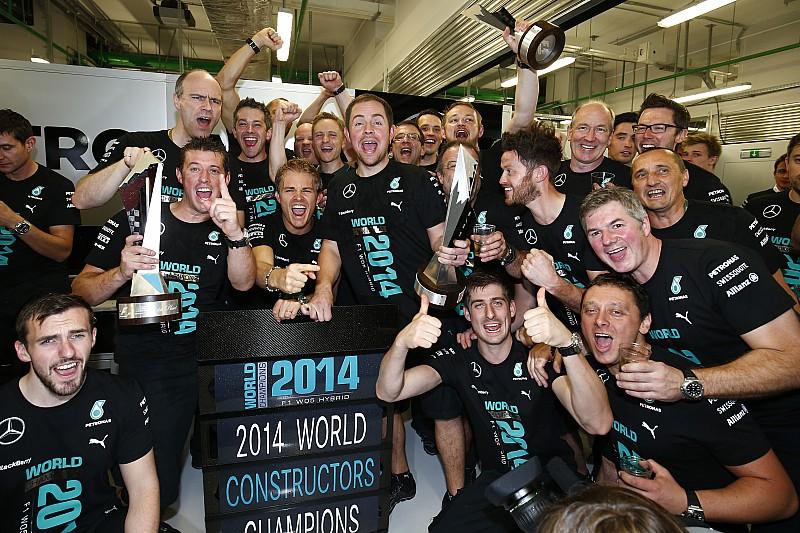Mercedes a perdu plus de 100 M€ pour remporter le titre 2014