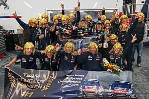 World Rallycross Commento Il Team Peugeot Hansen è Campione WRX 2015