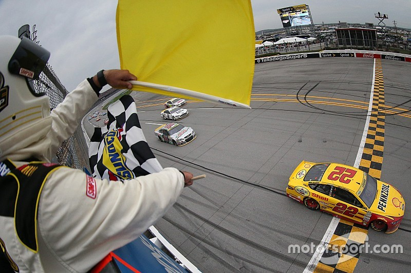 Logano wins in controversial finish at Talladega