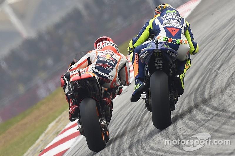 Honda: Telemetria mostra chute de Rossi em freio de Marquez