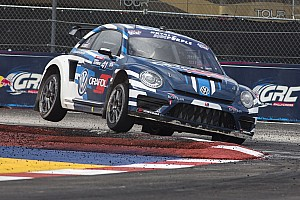 Global Rallycross Race report Scott Speed wins first Global Rallycross Championship title for Volkswagen Andretti Rallycross
