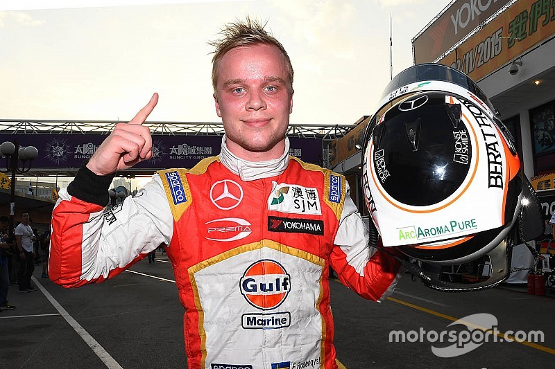 F3排位赛:无意外!罗森奎斯特夺杆!