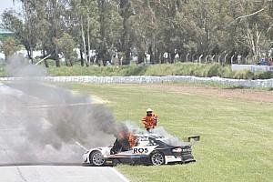 Tourenwagen News Schwerer Feuerunfall bei argentinischen Tourenwagen