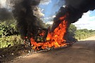 Melhor Renault no Dakar entre caminhões abandona após fogo