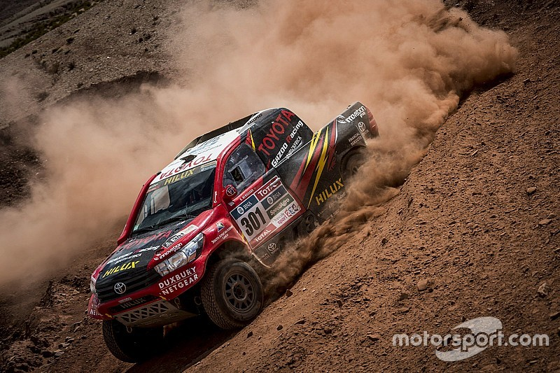 Overdrive Racing and Toyota Gazoo Racing reach Salta with four Toyota Hiluxes inside Dakar Top 10