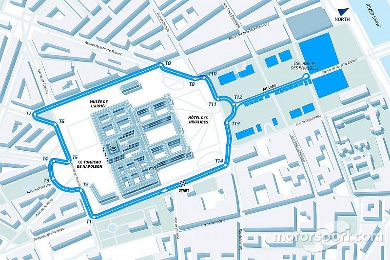 Formel E in Paris: Streckenlayout rund um den Invalidendom
