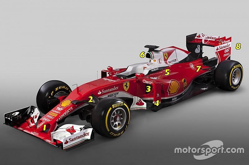 Análisis técnico: los ocho cambios clave de Ferrari