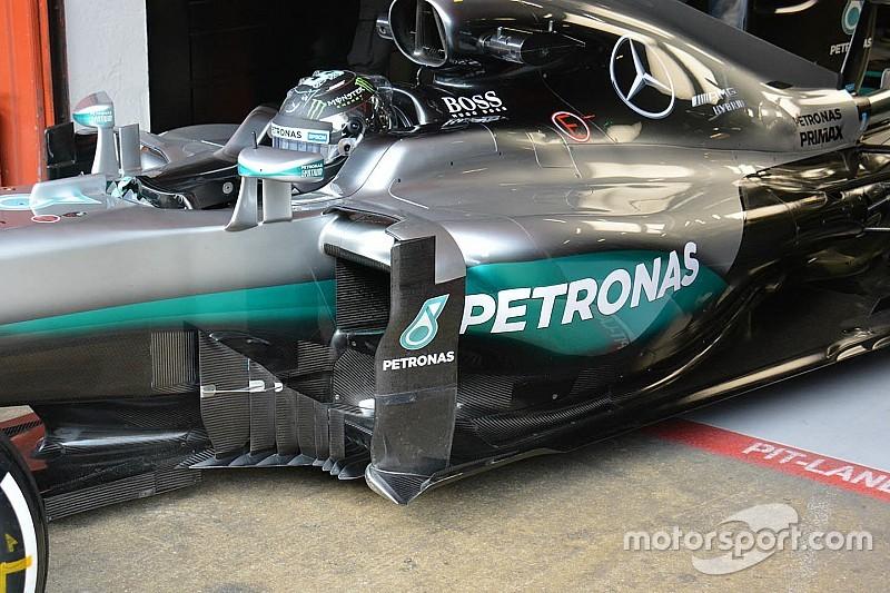 Mercedes testa com nova lateral de design inovador