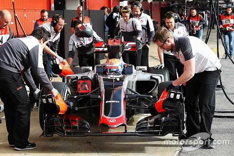Haas, en más problemas en las pruebas de F1