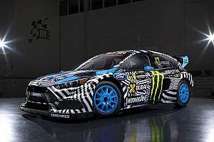 WK Rallycross Toplijst Street art-kunstenaar gaat los op de WK-auto van driftlegende Ken Block