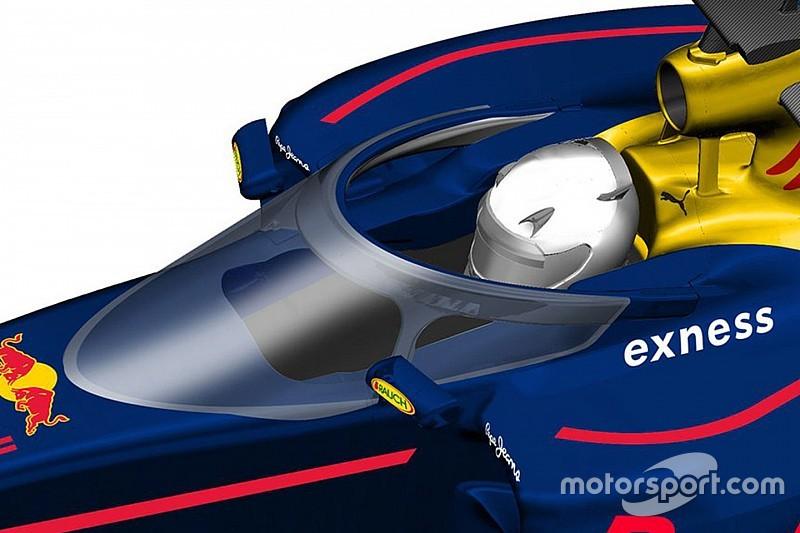 Red Bull test gesloten cockpit mogelijk in GP Rusland