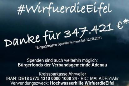 #WirfuerdieEifel: Motorsportler sammeln fast 350.000 Euro Spenden