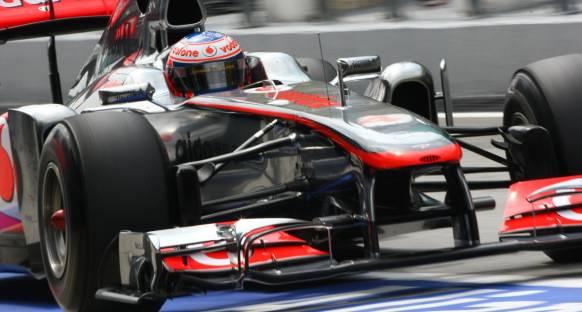 McLaren'ın hızı Button için sürpriz oldu