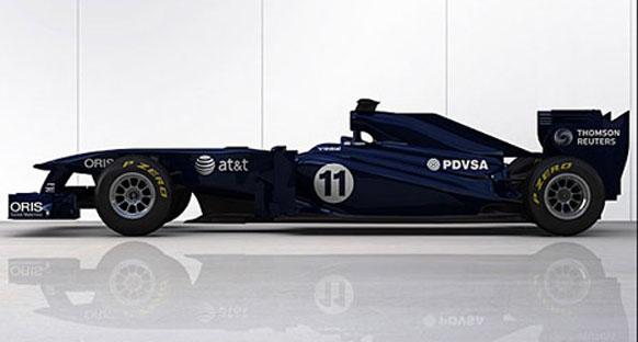 Geçici renkleri ile Williams FW33