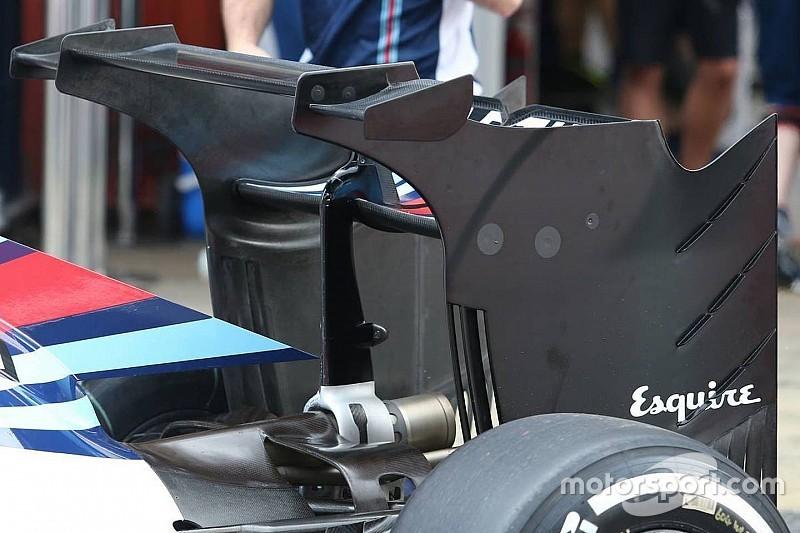 Williams prueba un radical diseño de alerón trasero en Barcelona
